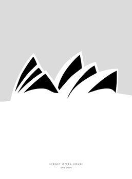 Obraz na plátně Minimal Sydney Opera House illustration