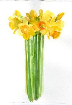 Obraz na plátně Narcissus bunch; 2014;
