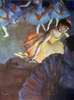 Obraz na plátně Painting titled 'A Ballet Seen from an Opera Box' by Edgar Degas
