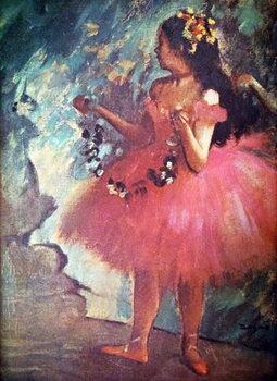 Obraz na plátně Painting titled 'Dancer in a Rose Dress' by Edgar Degas