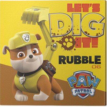 Obraz na plátně Paw Patrol - Rubble