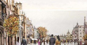 Obraz na plátně Richard Macneil - Street After Rain