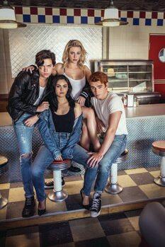 Obraz na plátně Riverdale - Archie, Veronica, Jughead and Betty