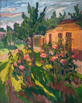 Obraz na plátně Roses in my Forecourt, 2012