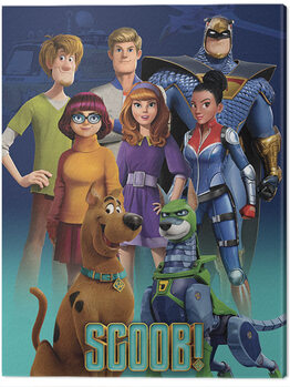 Obraz na plátně Scoob! - Scooby Gang and Falcon Force