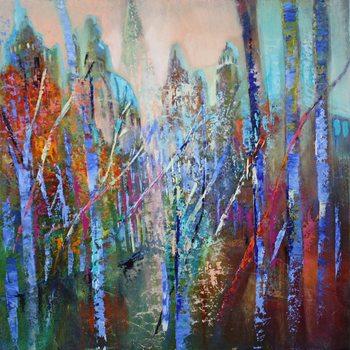 Obraz na plátně Springtime in the avenue
