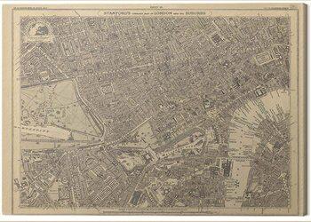 Obraz na plátně Stanfords Library - Map of London