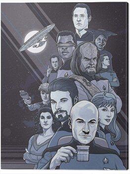 Obraz na plátně Star Trek - Next Generation Blue - 50th Anniversary