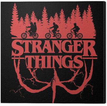 Obraz na plátně Stranger Things - Logo Flip