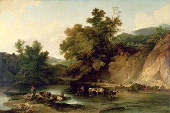 Obraz na plátně The River Wye at Tintern Abbey, 1805