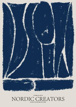 Obraz na plátně Things fall apart - Blue