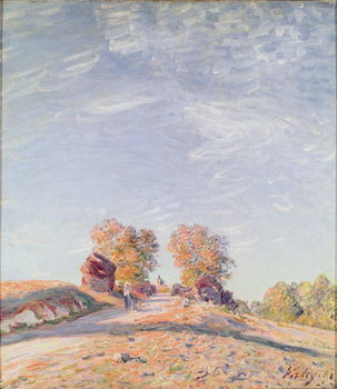 Obraz na plátně Uphill Road in Sunshine, 1891