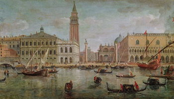 Obraz na plátně View of Venice, 1719