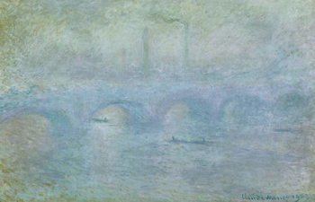 Obraz na plátně Waterloo Bridge, Effect of Fog, 1903