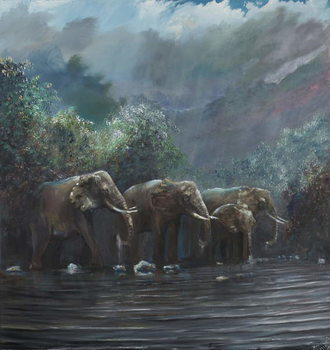 Obraz na plátně Welcome Waters, 1990,