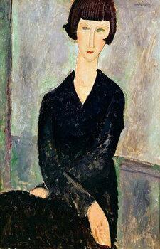 Obraz na plátně Woman in Black Dress