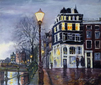 Obraz na plátně At Dusk, Amsterdam, 1999