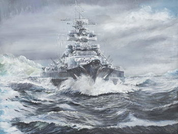 Obraz na plátně  Bismarck off Greenland coast 23rd May 1941, 2007,