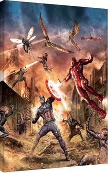 Obraz na plátně Captain America: Občanská válka - Group Fight