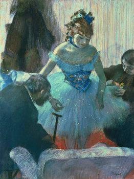 Obraz na plátně Dancer in her dressing room