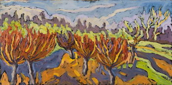 Obraz na plátně Dancing Willows, 2007