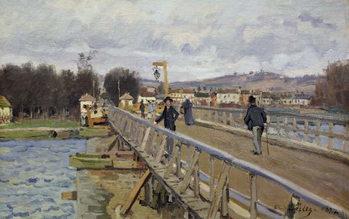 Obraz na plátně Footbridge at Argenteuil, 1872