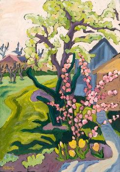 Obraz na plátně Garden in Dusk Light, 2006