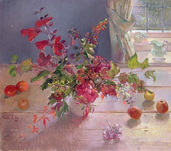 Obraz na plátně Honeysuckle and Berries, 1993