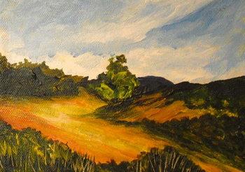 Obraz na plátně La route de Thiote, 2014