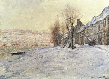 Obraz na plátně Lavacourt under Snow, c.1878-81