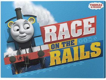 Obraz na plátně Mašinka Tomáš A Přátelé - Race on the Rails