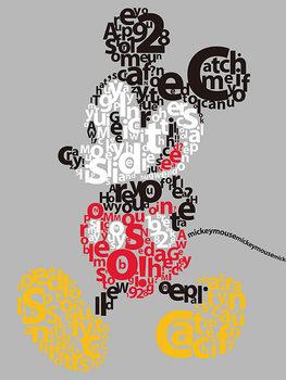 Obraz na plátně  Myšák Mickey (Mickey Mouse) - Type
