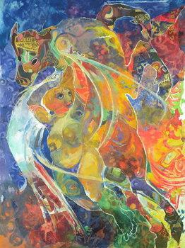 Obraz na plátně Myth and the Maiden, 1991