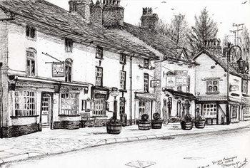 Obraz na plátně Post office Prestbury, 2009,