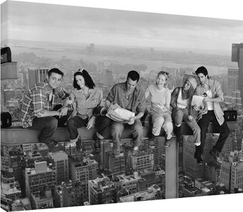 Obraz na plátně  Přátelé - Friends - Lunch on a Skyscraper