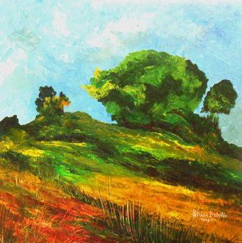 Obraz na plátně Road to Mayette, 2015