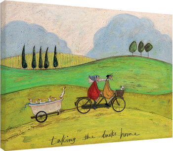 Obraz na plátně Sam Toft - Taking the Ducks Home