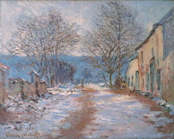 Obraz na plátně Snow in Limetz; Effet de neige a Limetz, 1886