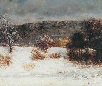 Obraz na plátně Snowy Landscape (Vallée de la Loue), c.1876