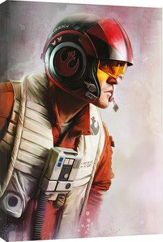 Obraz na plátně  Star Wars: Poslední z Jediů - Poe Paint