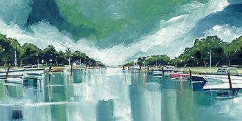 Obraz na plátně  Stuart Roy - River Mornings and Angry Clouds