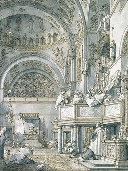 Obraz na plátně The Choir Singing in St. Mark's Basilica, Venice, 1766