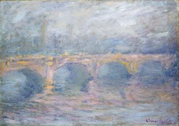Obraz na plátně Waterloo Bridge, London, at Sunset, 1904