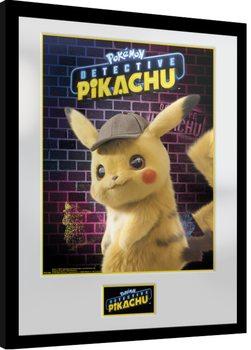 Zarámovaný plagát Pokemon: Detective Pikachu - Pikachu