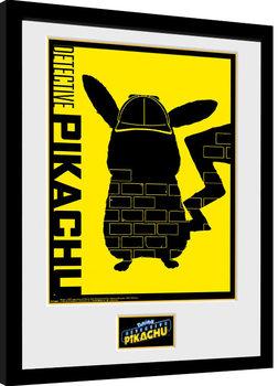 Zarámovaný plagát Pokemon: Detective Pikachu - Wall