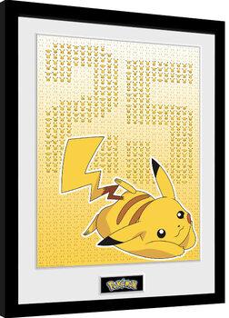 Zarámovaný plagát Pokemon - Pikxels