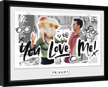 Zarámovaný plagát Priatelia - You Love Me