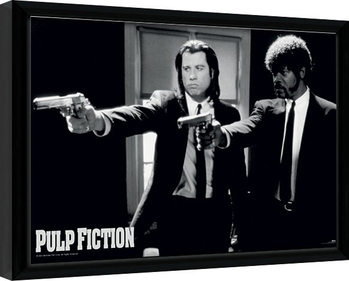 Zarámovaný plagát PULP FICTION - guns