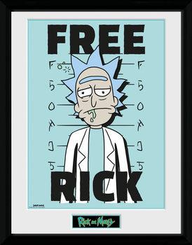 Zarámovaný plagát Rick and Morty - Free Rick