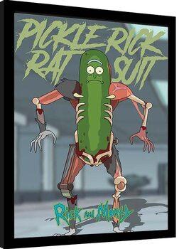 Zarámovaný plagát Rick & Morty - Pickle Rick